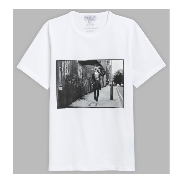 T-Shirt Yan Morvan Blanc – Agnès b.